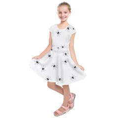 Animals Arachnophobia Seamless Kids  Short Sleeve Dress