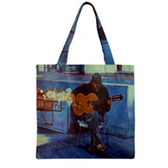 Man and His Guitar Grocery Tote Bag