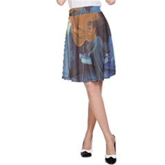 Man and His Guitar A-Line Skirt