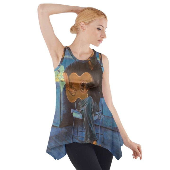 Man and His Guitar Side Drop Tank Tunic