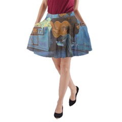 Man and His Guitar A-Line Pocket Skirt