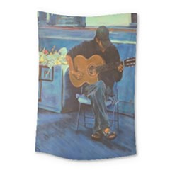 Man And His Guitar Small Tapestry