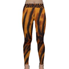 Animal Background Cat Cheetah Coat Classic Yoga Leggings