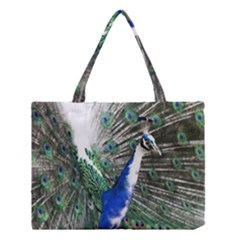 Animal Photography Peacock Bird Medium Tote Bag