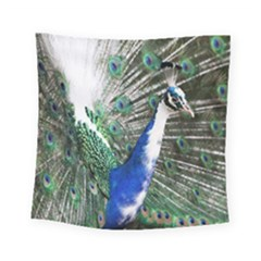 Animal Photography Peacock Bird Square Tapestry (small)