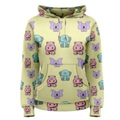 Animals Pastel Children Colorful Women s Pullover Hoodie