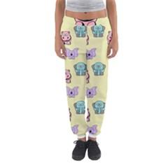 Animals Pastel Children Colorful Women s Jogger Sweatpants