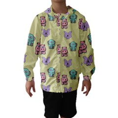 Animals Pastel Children Colorful Hooded Wind Breaker (kids)
