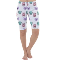 Animals Pastel Children Colorful Cropped Leggings