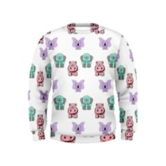 Animals Pastel Children Colorful Kids  Sweatshirt