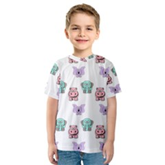 Animals Pastel Children Colorful Kids  Sport Mesh Tee