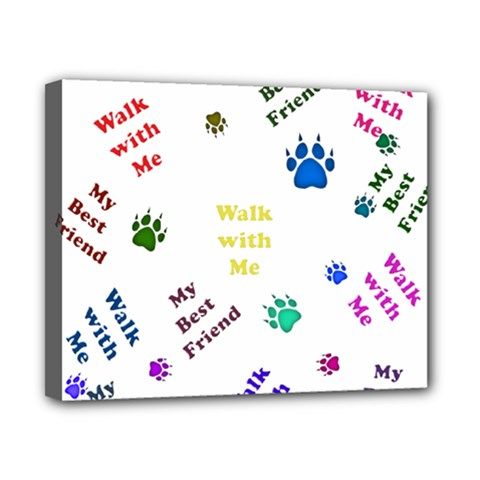 Animals Pets Dogs Paws Colorful Canvas 10  X 8
