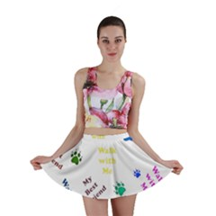 Animals Pets Dogs Paws Colorful Mini Skirt