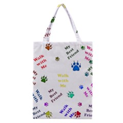 Animals Pets Dogs Paws Colorful Classic Tote Bag