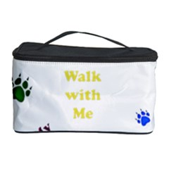 Animals Pets Dogs Paws Colorful Cosmetic Storage Case