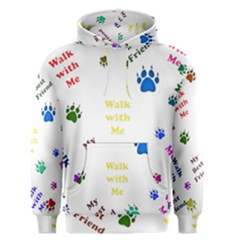 Animals Pets Dogs Paws Colorful Men s Pullover Hoodie