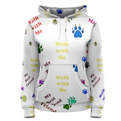 Animals Pets Dogs Paws Colorful Women s Pullover Hoodie