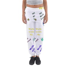 Animals Pets Dogs Paws Colorful Women s Jogger Sweatpants