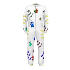 Animals Pets Dogs Paws Colorful Onepiece Jumpsuit (kids)