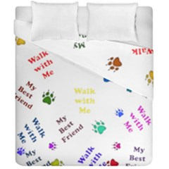 Animals Pets Dogs Paws Colorful Duvet Cover Double Side (california King Size)