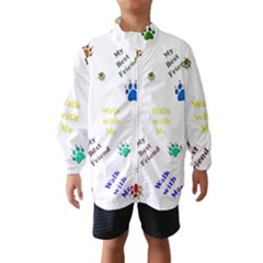 Animals Pets Dogs Paws Colorful Wind Breaker (kids)