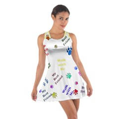 Animals Pets Dogs Paws Colorful Cotton Racerback Dress