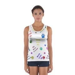 Animals Pets Dogs Paws Colorful Women s Sport Tank Top