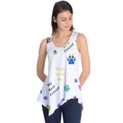 Animals Pets Dogs Paws Colorful Sleeveless Tunic