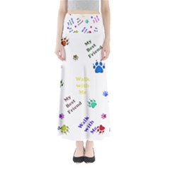 Animals Pets Dogs Paws Colorful Maxi Skirts