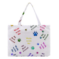 Animals Pets Dogs Paws Colorful Medium Tote Bag