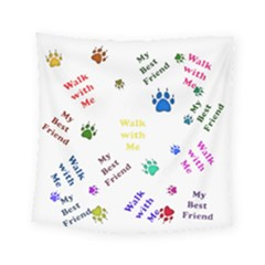 Animals Pets Dogs Paws Colorful Square Tapestry (small)