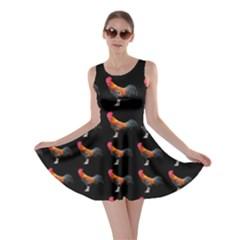 Background Pattern Chicken Fowl Skater Dress