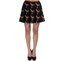 Background Pattern Chicken Fowl Skater Skirt