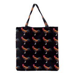 Background Pattern Chicken Fowl Grocery Tote Bag