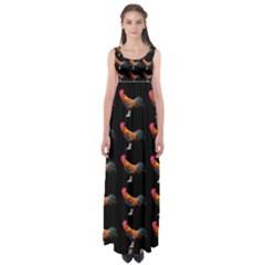 Background Pattern Chicken Fowl Empire Waist Maxi Dress