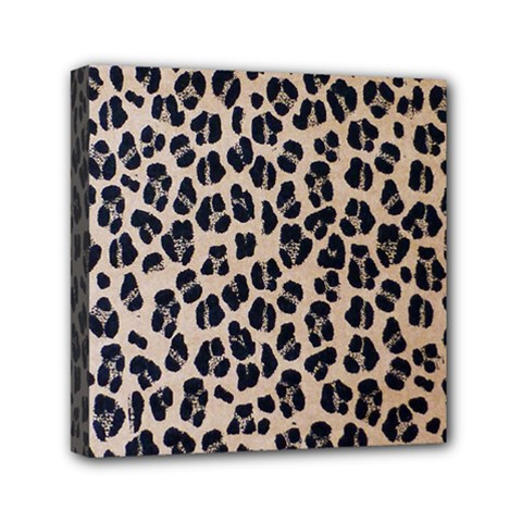 Background Pattern Leopard Mini Canvas 6  X 6