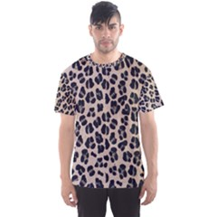 Background Pattern Leopard Men s Sport Mesh Tee