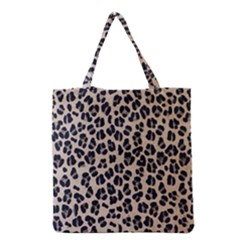 Background Pattern Leopard Grocery Tote Bag
