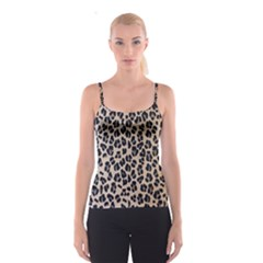 Background Pattern Leopard Spaghetti Strap Top