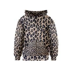 Background Pattern Leopard Kids  Zipper Hoodie