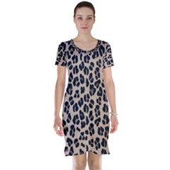 Background Pattern Leopard Short Sleeve Nightdress