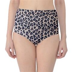 Background Pattern Leopard High Waist Bikini Bottoms