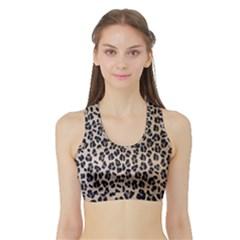 Background Pattern Leopard Sports Bra With Border