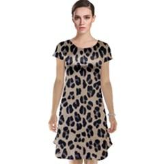 Background Pattern Leopard Cap Sleeve Nightdress