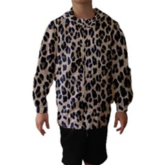 Background Pattern Leopard Hooded Wind Breaker (kids)
