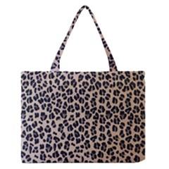 Background Pattern Leopard Medium Zipper Tote Bag