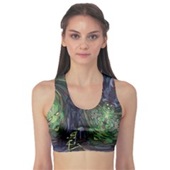 Backdrop Background Abstract Sports Bra