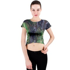 Backdrop Background Abstract Crew Neck Crop Top