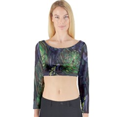 Backdrop Background Abstract Long Sleeve Crop Top