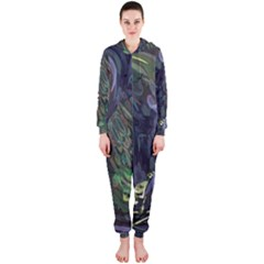 Backdrop Background Abstract Hooded Jumpsuit (ladies)